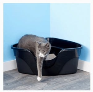 Nature's Miracle Just For Cats Advanced High Sided Corner Cat Litter Box